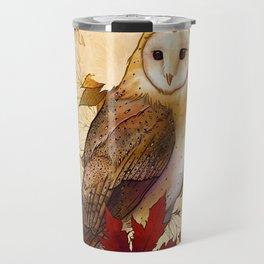 Autumn Barn Owl Travel Mug