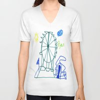 tennessee V-neck T-shirts featuring Tennessee Valley Fair 2011 by Ryan van Gogh