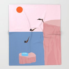 Dive//Survive Throw Blanket