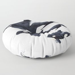 Orca (Orcinus orca) Floor Pillow