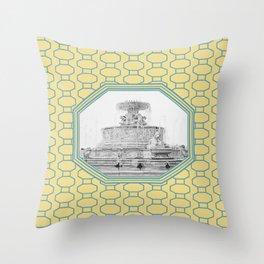 Detroit, Michigan_Scott Fountain_Belle Isle Throw Pillow