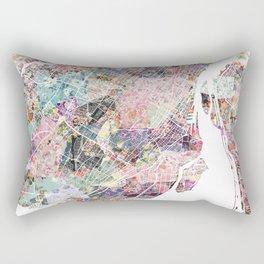 Montreal map canada Rectangular Pillow