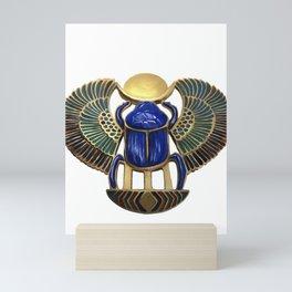 Painted Egyptian Necklace Mini Art Print