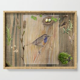 Bird Spring Collection Serving Tray