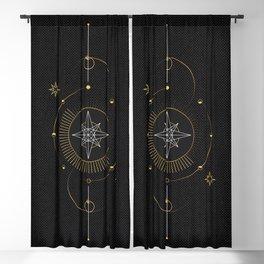 Tarot geometric #3: North star Blackout Curtain