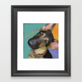 Head Tilt Framed Art Print