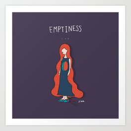 Emptyness Art Print