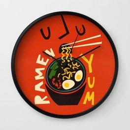 Yum Ramen Wall Clock