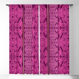 Pink Embroidery Blackout Curtain