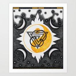Black & Gold Art Print