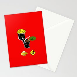 Dump in Toilets with Dirty Suites Stationery Cards