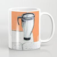 coffee Mugs featuring Coffee  by Brontosaurus