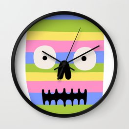Rainbow Skull Wall Clock