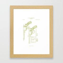 "F.B.E Beaumont ""Adams"" Revolver Patent Framed Art Print"