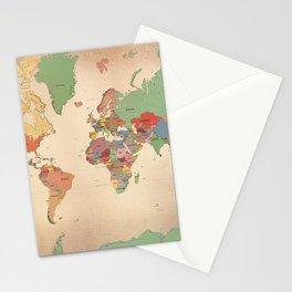 Mercator Map Modern Stationery Cards