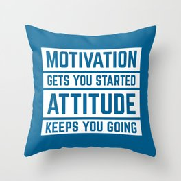 Motivation Gets You Started Gym Quote Throw Pillow