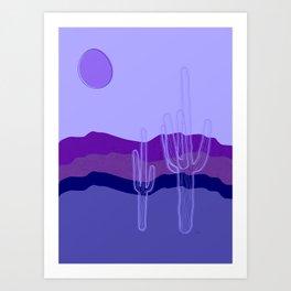 Purple Saguaro Cactus Art Print