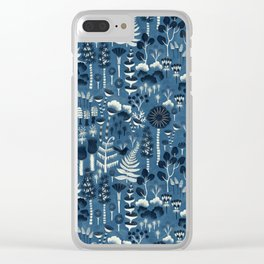Fairytale forest pattern Clear iPhone Case