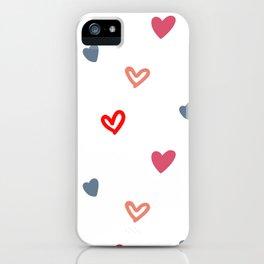 Cute Heart Pattern iPhone Case