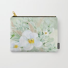White Orchid Series: Orchid in Watercolor Carry-All Pouch