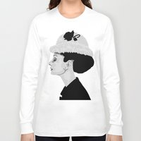 audrey hepburn Long Sleeve T-shirts featuring Audrey Hepburn by Geryes