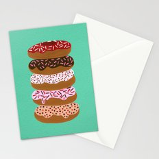 Stacked Donuts on Mint Stationery Cards