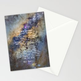 BLADE RUNNER: ...All those ... moments will be lost in time, like tears...in rain...... Stationery Cards