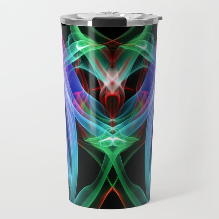 9109 Red Tongue of Passion Piercing The Ethereal Veil Releasing the White Bird of Orgasm Travel Mug