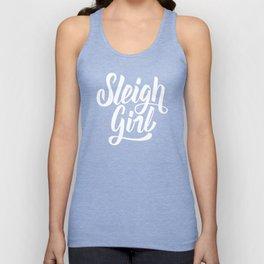 Sleigh Girl hand lettering design Unisex Tank Top