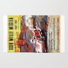 Mille Miglia, Race Poster, Vintage Poster, car poster Rug