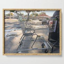 Shopping cart Serving Tray