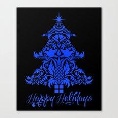 Ornate Pineapple Holiday Tree Canvas Print