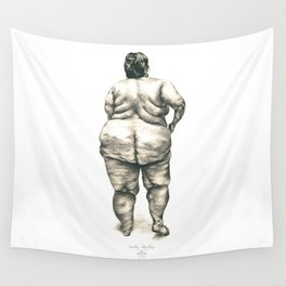 Woman in Shower Wall Tapestry