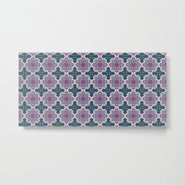 Floral ornamet tile Metal Print