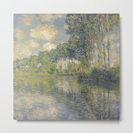 Poplars on the Epte by Claude Monet Metal Print