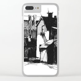 ARCHITECTURE PEN & INK DRAWING Clear iPhone Case