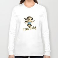 lara croft Long Sleeve T-shirts featuring Geek Babies: Lara by Deanna Marie: Art & Design