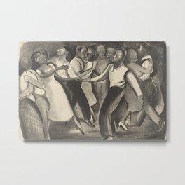 Harlem Street Dance Vintage Illustration Metal Print