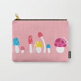 Mushroom Maintenance Pink Carry-All Pouch