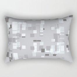 Popping Squares (grey) Rectangular Pillow