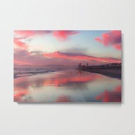 El Porto Beach at Low Tide Metal Print