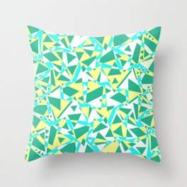 Pieces of colorful broken glass in summer colors Throw Pillow
