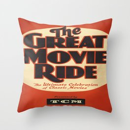 Great Movie Ride TCM Poster Throw Pillow
