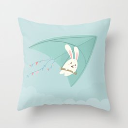 Let's fly to the sky Throw Pillow