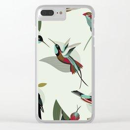 Paradise Birds Clear iPhone Case