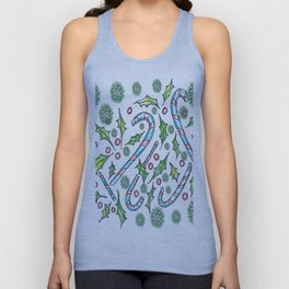 Candy Canes Unisex Tank Top