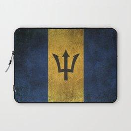 Old and Worn Distressed Vintage Flag of Barbados Laptop Sleeve