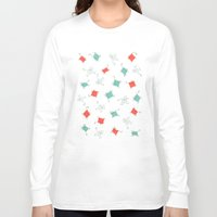tape Long Sleeve T-shirts featuring Tape cats by Kitten Rain