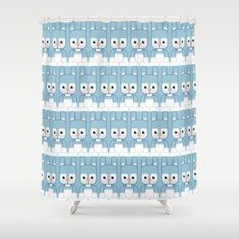 Blue Bunny Rabbit - Super Cute Animals Shower Curtain