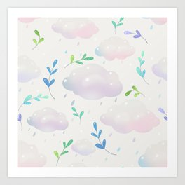 April clouds Art Print